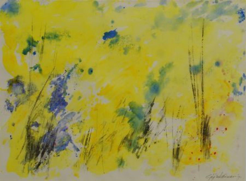 Acryl op papier '91 (geel)